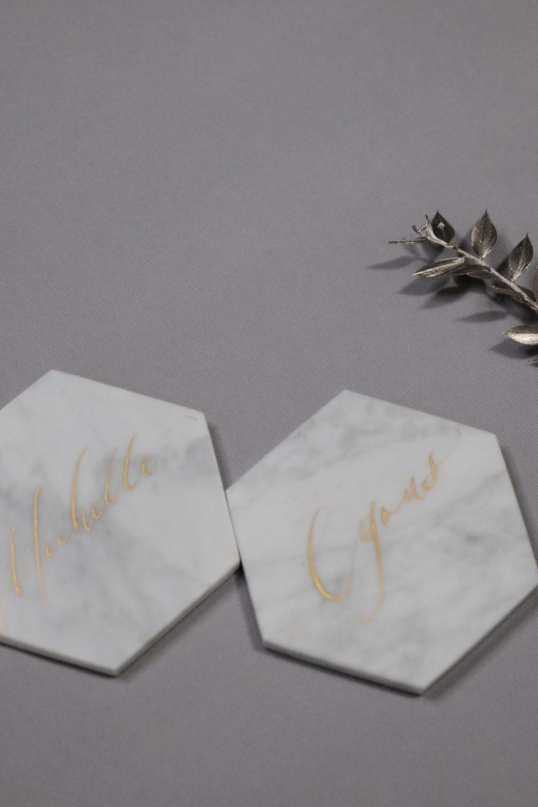 calligraphy placecards 西洋書法人名卡 座位卡