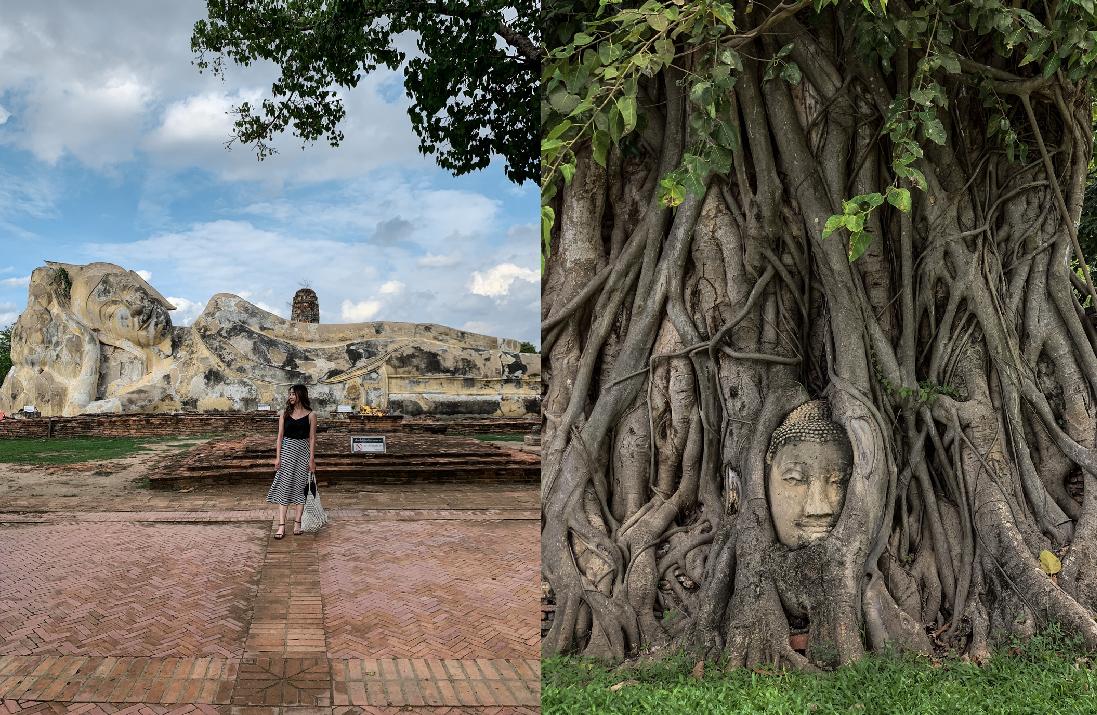 泰國 大城臥佛Wat Lokayasutha, Ayutthaya,