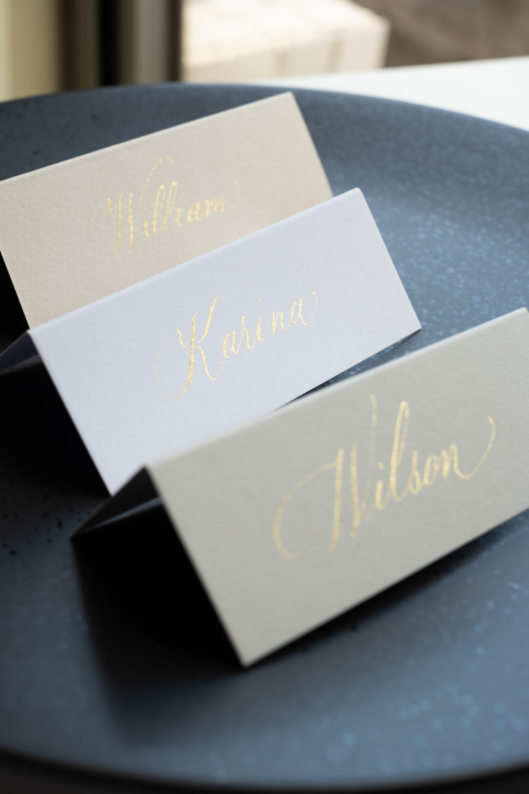 folded place card