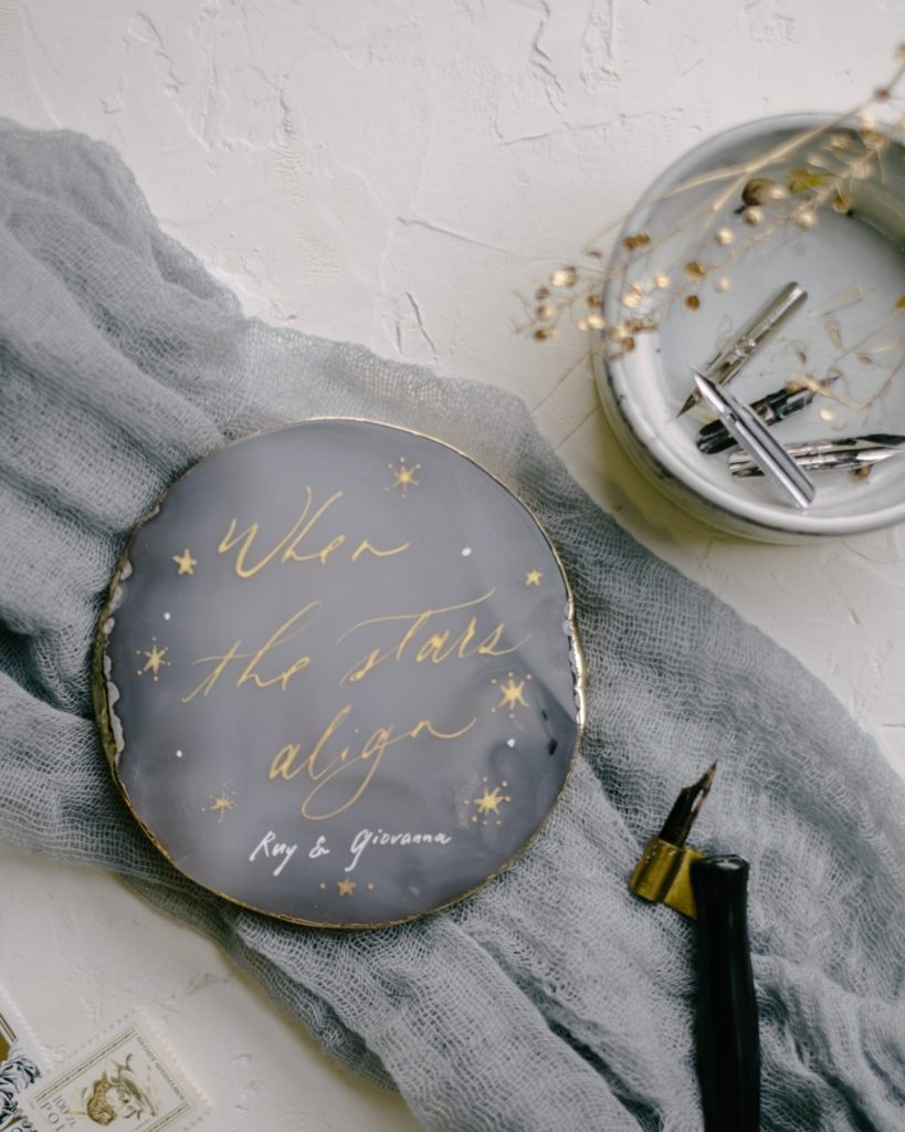 Agate Stone calligraphy