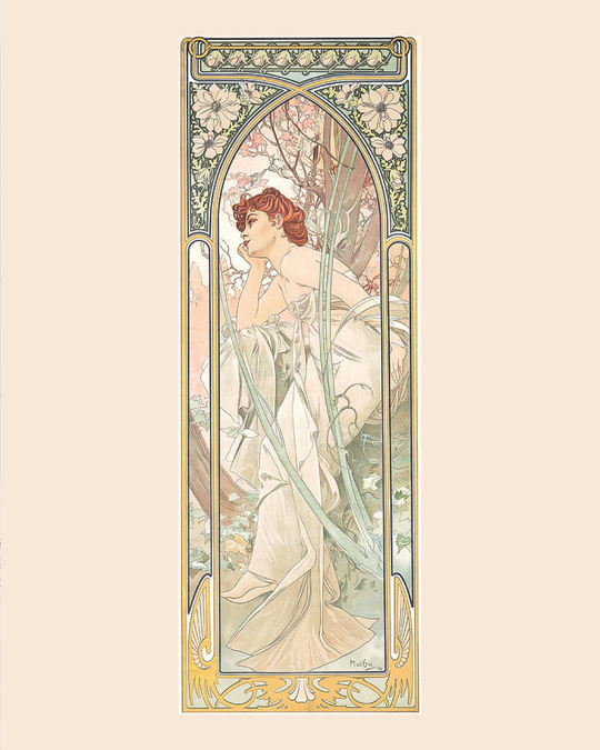 The Times of the Day: Evening Contemplation mucha 1899