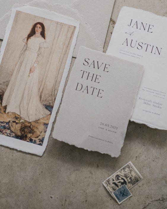 Contemporary wedding stationery